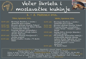 This Weekend in Popovača - Evenings of Škrlet and Moslavina Cuisine